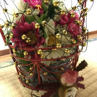 手作り作品 フラワーアレンジメント 造花
