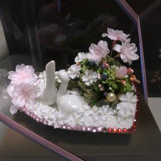 ハンドメイド 手作り作品 フラワーアレンジメント 造花 ハート