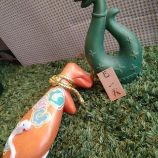 蛇の置物★とても古い昭和の小物たち★骨董品?お宝? とって…