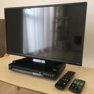 24型液晶テレビとHDMI端子付高画質DVDプレーヤー