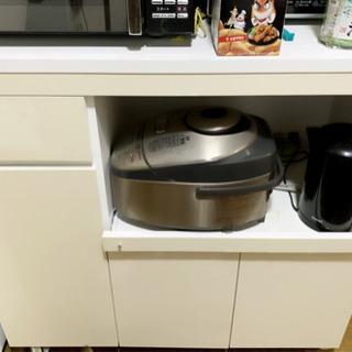 (差し上げます) レンジ台 キッチン収納