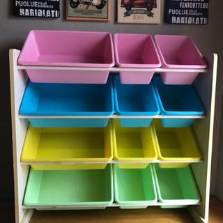 おもちゃ収納 4段+BOX