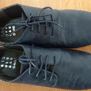 メンズ新品25.5㎝の靴ネイビー