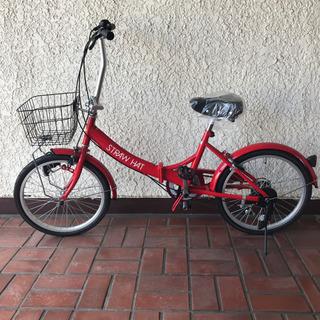 新品 折りたたみ自転車 6段ギア 20インチ