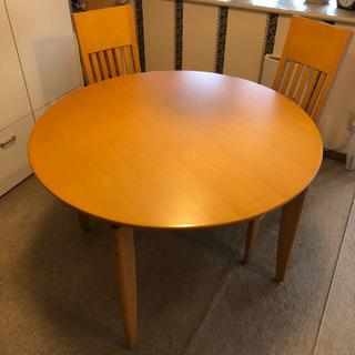 ダイニングテーブル 丸型 5点セット