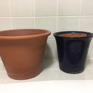陶器の植木鉢 大きめ!