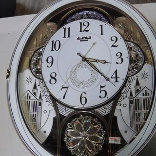 リズム時計 電波時計 4MN509RH からくり時計 掛け時計