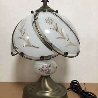★アンティーク調 花柄 テーブルランプ/スタンドライト 美品