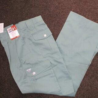 ◇未使用 極美品 自重堂 作業ズボン サイズ91 アースグリーン...