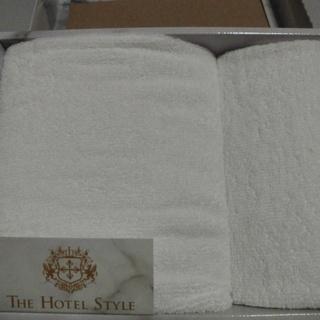 ホテル仕様のフエイス&ハンドタオル「箱入り」