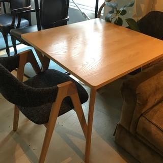 ダイニングテーブル3点セット テーブル チェア ナチュラル×黒系...