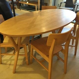 フランフラン バルス ダイニングテーブル5点セット テーブル チ...