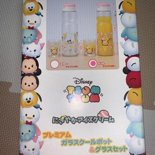 【新品・未使用】ディズニー ガラスクールポット&グラスセット
