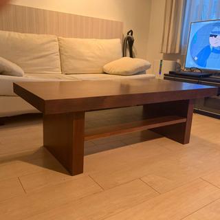重厚ウォールナットローテーブル
