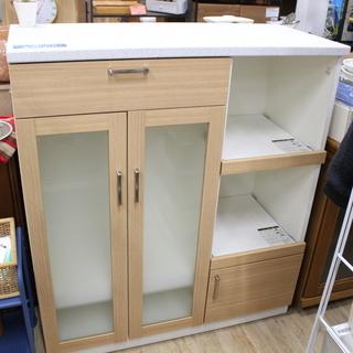 J10183)【展示品・ほぼ未使用!】島忠 食器棚 キッチンボー...