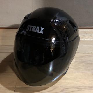 ヘルメット M スモーク ジェット型 黒