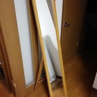 姿鏡 スタンドミラー 木枠