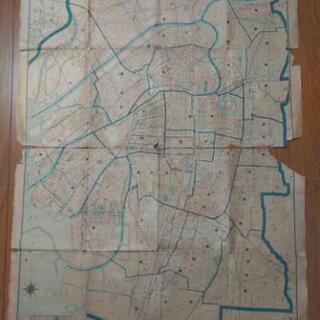 大阪市街圖  ~ 戰災焼失區域表示・近畿交通地區町名索引表…