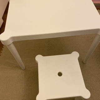 IKEA 子供用テーブルと椅子セット 机  デスク - 京都市