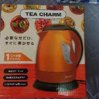 TEA CHARM 電気ケトル 1L レッド
