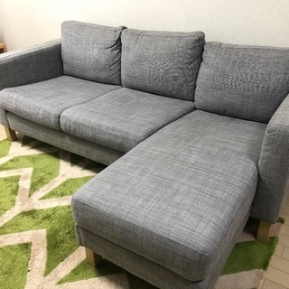 イケア IKEA KARLSTAD 2人掛けコンパクトソファ&寝...