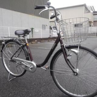 中古自転車678 前後タイヤ交換❗ 26インチ ギヤなし LED...