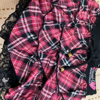 新品130女の子パンツ付きスカート