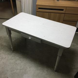 テーブル ホワイト ダイニングや机に カントリー 白 幅120奥...