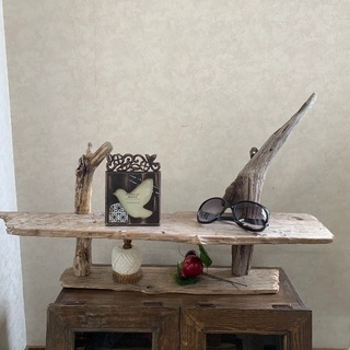 流木ウォールシェルフ ディスプレイラック飾り棚
