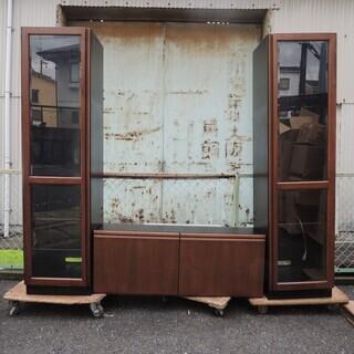 カリモク 木製 テレビ台 キャビネット ライト付き リビング 収納家具