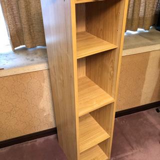 本棚 真ん中段固定・高さ可変棚板4枚