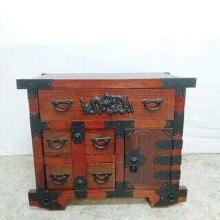 R*673 箪笥 タンス 龍金具 古民具 アンティーク 和家具 ...
