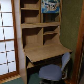 無料  [ 至急11月23日まで] 学習机 椅子付き