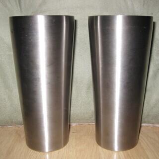 【値下げ】保冷剤入りビアカップ・つや消しステンレス製×2個