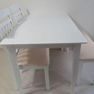 ホワイトベージュ*ダイニングテーブルセット