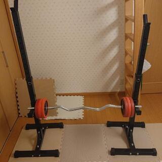 自宅用 ベンチプレス スクワット 筋力トレーニング器具 EZバー...
