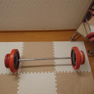 バーベル 約85kg セット 自宅用筋力トレーニング