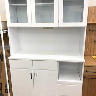 【ナフコ】レンジ台付き食器棚 レンジボード 食器棚(幅120)
