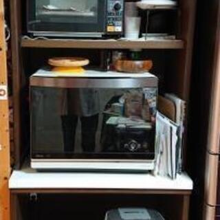 ニトリ 大型キッチンボード ブラウン 幅70cm 高さ約2メートル - 堺市