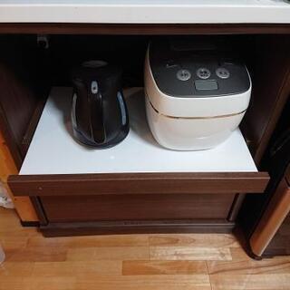 ニトリ 大型キッチンボード ブラウン 幅70cm 高さ約2メートル - 家具