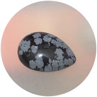 天然石 スノーフレークオプシディアン(黒曜石の一種)