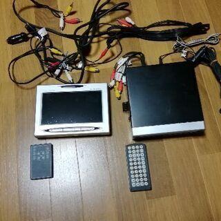 7インチモニター&DVDプレーヤーセットで (^^) 後席用に ...