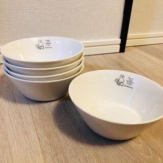 ミッフィーボウル皿5枚セット(バラ可能) 新品