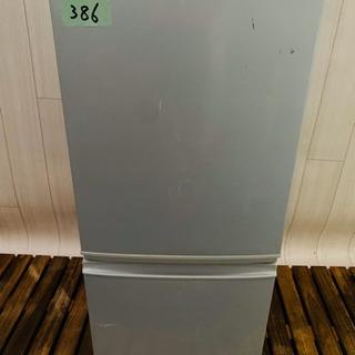 386番  SHARP✨ノンフロン冷凍冷蔵庫❄️ SJ-14T-S‼️