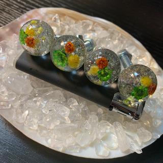 水中花 ナンバーボルト 4本セット銀