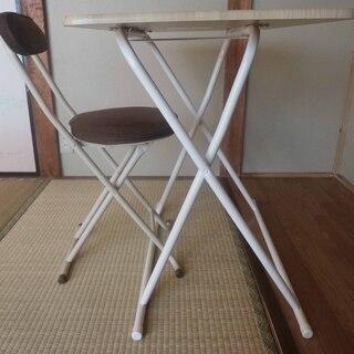 山善(YAMAZEN) 折り畳みデスク(テーブル)椅子付き