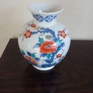 花瓶 色鍋島 和泉作