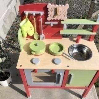 キッチン おままごと (野菜まな板などの小道具おまけ付き)
