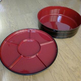 手巻き寿司パーティー用 回転式皿と桶のセット