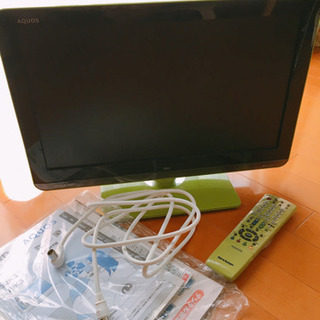 シャープAQUOS 19型 液晶テレビ アンテナケーブル付き